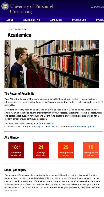 Pitt Greensburg Academics.png